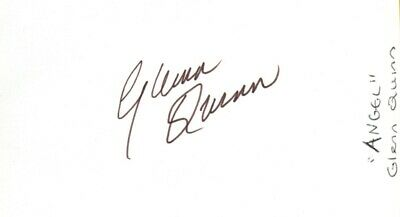 Q-GLENN QUINN autographed card  with COA- Star in Angel