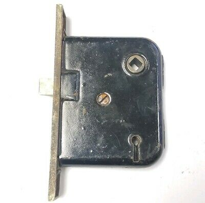 """Antique Mortise Lock 5 1/2"""" plate,3"""" x 3 3/4""""  body A01"""