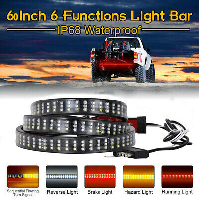 "60"" Truck Tailgate 432LED Light Bar Brake Reverse Turn Signal Stop Tail Strip US"