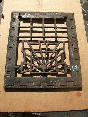 "Heat Air Grate Wall Register 12"" x 14 "" GRATE ONLY - VINTAGE ART DECO"