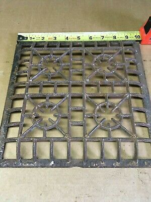 "Heat Grate Wall Register Curved Edge  LOCK WELL Brand 1906 10"" x 10"" GRATE ONLY"