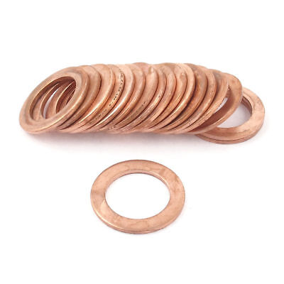 H● 20mm Inner Dia 30mm OD Copper Flat Washer Ring Spacer Gasket Tightening20Pcs
