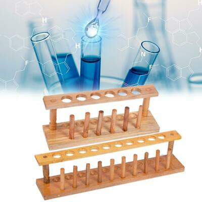 6/10 Holes Lab Wooden Test Tube Storage Holder Bracket Rack Laboratory Instrumen