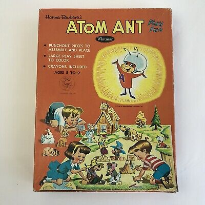 Vintage Original Play Fun Set Atom Ant Whitman 1966 Hanna Barbera Characters