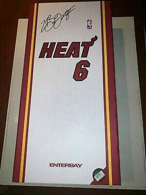 NBA Authenticated Memorabilia Heat 6 Enterbay James