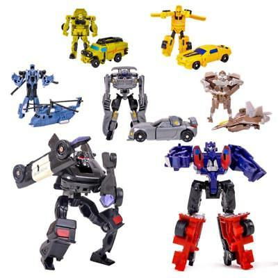 Mini Transformer Figures Toys Optimus Prime Ironhide Bumble Bee Robots Kids Gift