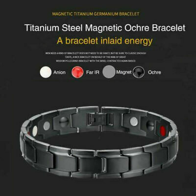 Therapeutic Energy Healing Bracelet Titanium Steel Magnetic Therapy Bracelet New