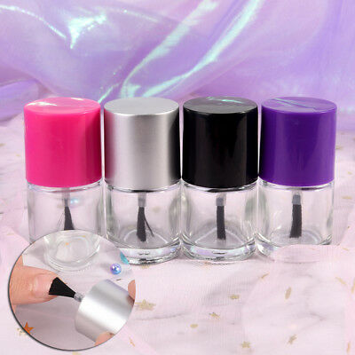 9ML Empty Cosmetic Containers Nail Glass Bottles With Brush Nail Polish Bottl TS