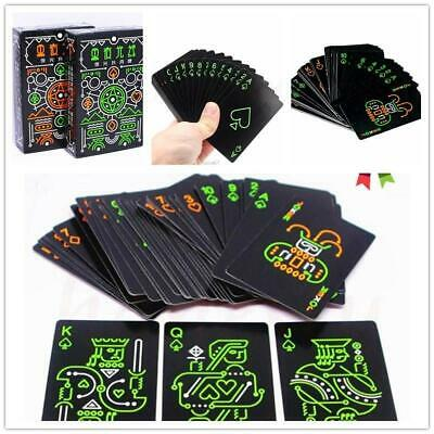 Glow Dark Novelty Fluorescent Luminous Poker Playing Cards  Creative Case Cover