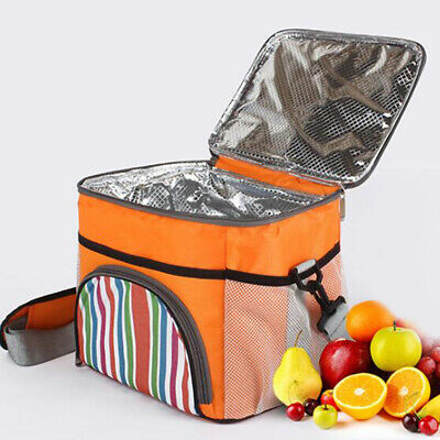 Portable Lunch Box Insulated Thermal Cooler Office Outdoor Picnic Bag Tote LL