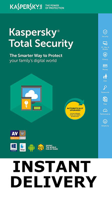 Kaspersky Total Security 2019 Antivirus 1 Device/1 Year/UK/EU INSTANT E-MAIL