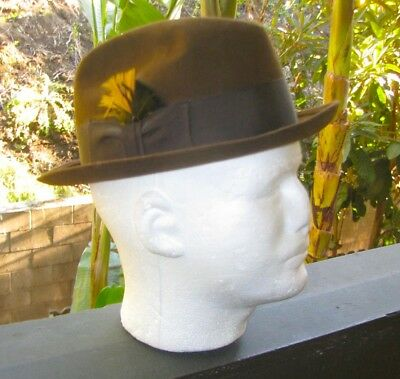 Royal Stetson Men's Dark Brown vintage Fedora size 6 7/8