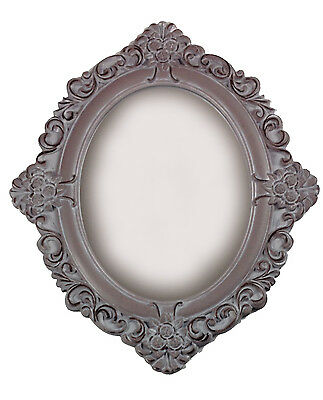 Antique Wood Wall Mirror 59 cm Dressing Room Mirror Floor Mirror Baroque Grey