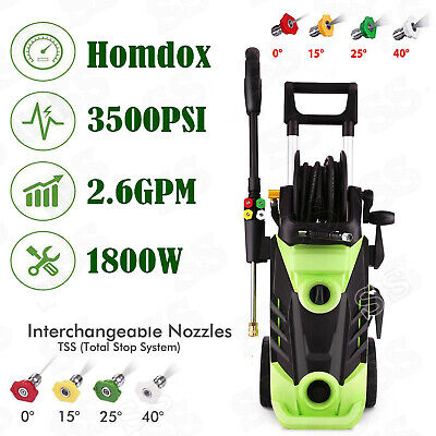 3500PSI 2.6 GPM High Power Electric Pressure Washer Water Cleaner Machine-Homdox
