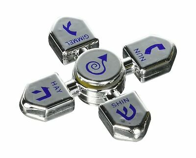Assorted Colors Plays 2 Classic Hanukkah Songs Hanukkah Musical Light-Up Dreidel Spinning Tops Set 4-Pack