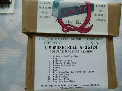 """Clark   Nickelodeon """"A""""  Roll (46)  36124 10 tune see photo for details"""
