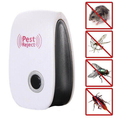Electronic Ultrasonic Pest Reject Bug Mosquito Cockroach Mouse Killer Repel CC