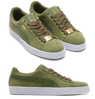 New PUMA Suede Classic Casual Shoes Mens green white