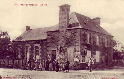 CPA 50 Avranches Juvigny le Tertre Romagny Reffuveille MESNIL-ADELEE L'Ecole1907