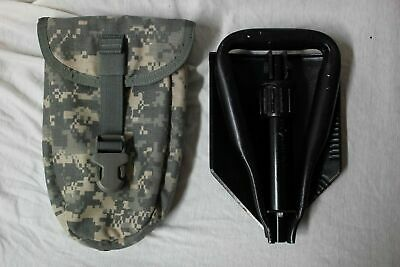 US Military Surplus Folding Entrenching Tool & ACU Pouch