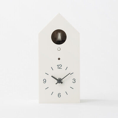 MUJI Mechanical cuckoo Wall put clock Small Size light sensor from JAPAN WithT/M