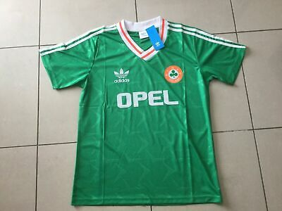 7830c6243ad22 1990 1991 1992 Ireland Away White Football Shirt 1990 World Cup ...