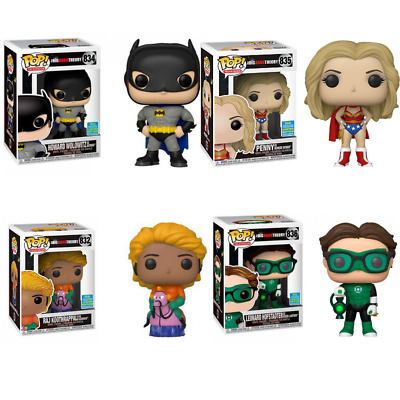 FUNKO POP 2019 SDCC The Big Bang Theory Collection Howard Penny Leonard Raj