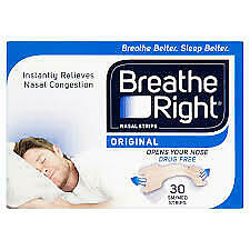 3 x 30 Breathe Right Nasal Strips Size Small/Medium Original 90 STRIPS