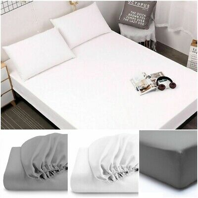 200Tc Thread Count Fitted Sheet 100% Egyptian Cotton Single Double Super King