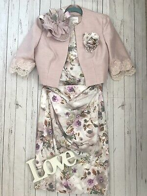 John Charles Size 12 floral mother of the bride wedding races stunning outfit vg