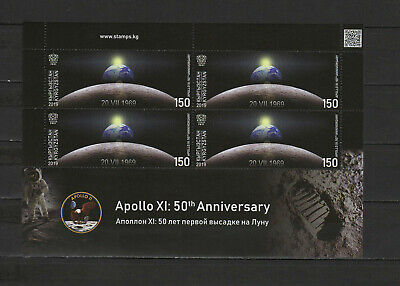 Space Apollo 11 Moon Landing 50th anniversary 2019 Kyrgyzstan s/s MNH