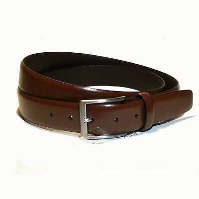 MEN'S BROWN BRAIDED / Woven Soft Leather Belt 42