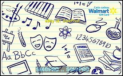 Walmart School Supplies & Material Calculator #Vl8744 Collectible Gift Card