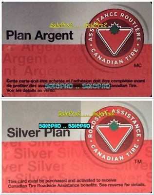 2x CANADIAN TIRE ROADSIDE SILVER PLAN ARGENT RARE COLLECTIBLE GIFT CARD SET LOT