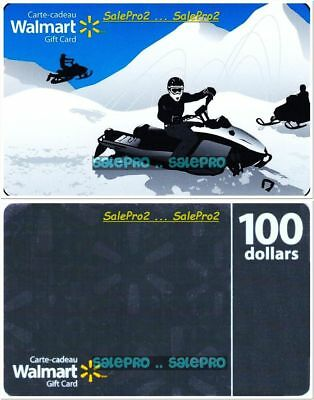 2x WALMART CHRISTMAS 100S GREY WINTER SNOWMOBILE RACE COLLECTIBLE GIFT CARD LOT