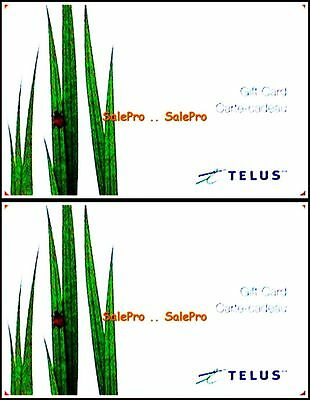 2x TELUS CANADA PHONE MOBILE COMMUNICATION BILINGUAL COLLECTIBLE GIFT CARD LOT