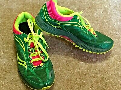 1de65a85 SAUCONY PEREGRINE 3.0 Trail Running Shoe Womens Size 6.5 M Green ...