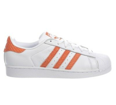 ADIDAS SUPERSTAR WOMENS CG5462 White Chalk Coral Leather