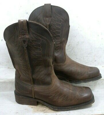 89f11476eed ARIAT MENS RAMBLER Phoenix Brown Western Cowboy Boots Shoes 10010944 size 9  EE