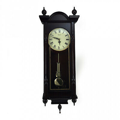 New Bedford Clock Collection Grand 31 Antique Mahogany Cherry Oak Chiming Wall