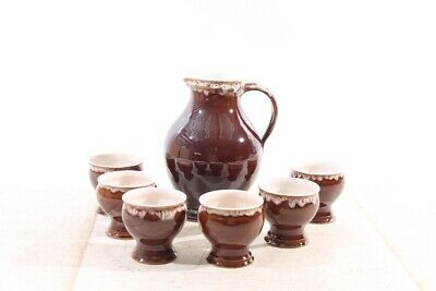 Old Pitcher with Mug Tone Ceramics Convolute Old Vintage Set