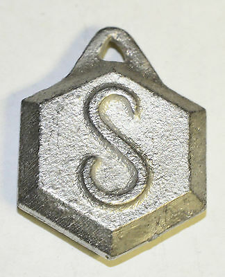 """S"" Pendulum Bob for Sessions Mantle or Shelf Clock, Hex Shape"