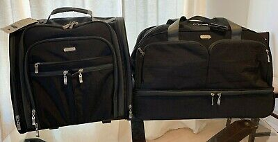 Baggallini Rolling Black Charcoal Set Travel Carry-On Duffle Bag Wheeled Luggage