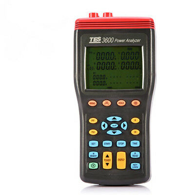 H● TES-3600 3 Phase Power Analyzer Tester True RMS with Software.