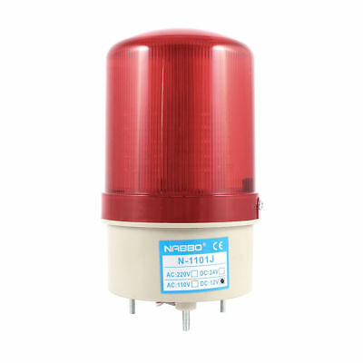 H● Industrial Buzzer Siren DC12V Red LED Warning Light Signal Tower Lamp.
