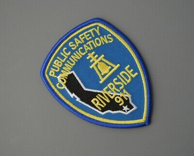 RIVERSIDE CALIFORNIA PUBLIC Safety Communications Patch ++ Mint CA