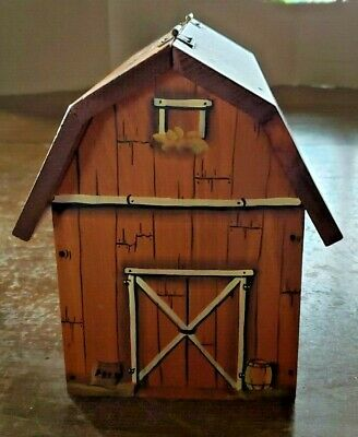 Vintage Hand Made Wooden  Barn Box 7 1/2'' Tall  X 8 1/2'' Long X 6'' Wide