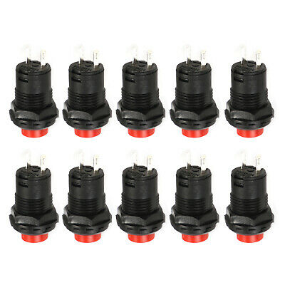 10pcs 12mm Momentary Push Button Car Boat Switch DS-427 DS227 red