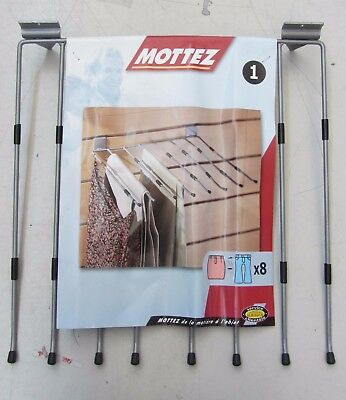 Mottez Clothes Hanger for Fix a Wall in Metal Resistant 8 Brackets