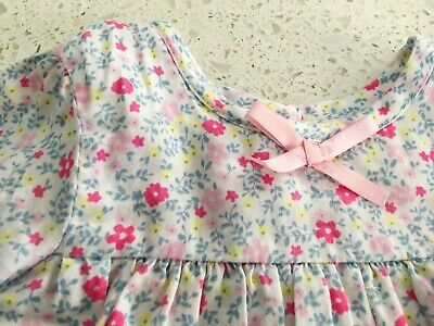 Baby Girls Blouse with Floral Design and Pink Bow Size - Size 000 (0-3 Months)